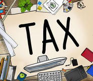 Έννοια επιστροφής απαλλαγής επιστροφής φορολογικής φορολογίας εισοδηματική Στοκ Εικόνα