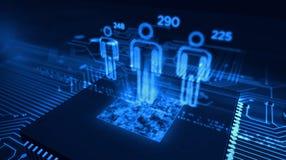 Έννοια επιτήρησης Cyber απεικόνιση αποθεμάτων