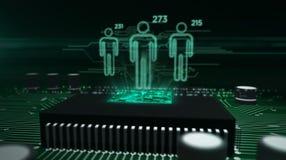 Έννοια επιτήρησης Cyber ελεύθερη απεικόνιση δικαιώματος