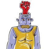Έννοια επιτιθέμενων, hand-drawn απεικόνιση ενός παράξενου πνεύματος προσώπων ελεύθερη απεικόνιση δικαιώματος