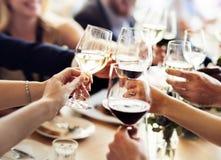 Έννοια επιτυχίας εορτασμού κόμματος επιχειρηματιών στοκ φωτογραφία