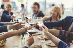 Έννοια επιτυχίας εορτασμού κόμματος επιχειρηματιών στοκ φωτογραφίες με δικαίωμα ελεύθερης χρήσης