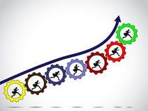 Έννοια επιτυχίας εργασίας ομάδων επιχειρηματιών απεικόνιση αποθεμάτων