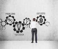 Έννοια επιτυχίας σχεδίων επιχειρηματιών Στοκ Φωτογραφίες
