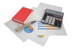 Έννοια επιχειρήσεων, χρηματοδότησης και λογιστικής Στοκ Φωτογραφία