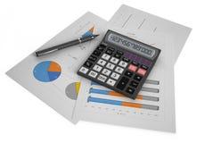 Έννοια 2 επιχειρήσεων, χρηματοδότησης και λογιστικής Στοκ Φωτογραφία