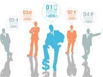 Έννοια επιχειρηματιών του μπλε πέντε επιλογής Στοκ Φωτογραφία