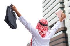 Έννοια επιχειρησιακής επιτυχίας: αραβικοί επιχειρηματίες που συναντούν την ισοτιμία ομάδων Στοκ Εικόνες