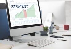 Έννοια επιχειρησιακής επιτυχίας οράματος προγραμματισμού ανάλυσης στρατηγικής Στοκ Φωτογραφίες