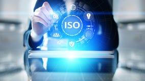 Έννοια επιχειρησιακής τεχνολογίας εξουσιοδότησης διαβεβαίωσης ποιοτικού ελέγχου προτύπων του ISO στοκ εικόνες
