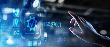Έννοια επιχειρησιακής τεχνολογίας εξουσιοδότησης διαβεβαίωσης ποιοτικού ελέγχου προτύπων του ISO στοκ φωτογραφίες