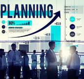 Έννοια επιχειρησιακής χρηματοδότησης ανάλυσης στρατηγικής προγραμματισμού Στοκ Εικόνες