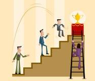 Έννοια επιχειρησιακού ανταγωνισμού ελεύθερη απεικόνιση δικαιώματος