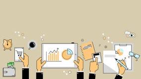 Έννοια επιχειρησιακού analytics Εκθέσεις, χρηματοδότηση, λογαριασμός διάνυσμα διανυσματική απεικόνιση