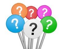 Έννοια επιχειρησιακών ερωτήσεων ερωτηματικών Στοκ Εικόνες
