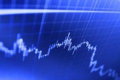 Έννοια επιχειρησιακών στοιχείων χρηματοδότησης Ανάλυση αγοράς για την έκθεση παραλλαγής της τιμής της μετοχής απεικόνιση αποθεμάτων