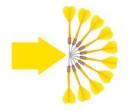 Έννοια επιχειρησιακών στόχων, στόχοι, στόχοι Στοκ Εικόνα