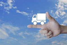 Έννοια επιχειρησιακών φορτηγών μεταφορών Στοκ φωτογραφίες με δικαίωμα ελεύθερης χρήσης