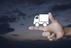 Έννοια επιχειρησιακών φορτηγών μεταφορών Στοκ Φωτογραφίες