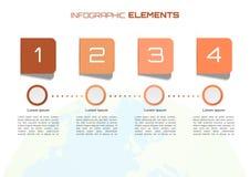 Έννοια επιχειρησιακών infographic στοιχείων με τη σφαίρα μερικά στοιχεία ο Στοκ Εικόνες