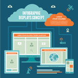 Έννοια επιδείξεων Infographic - διανυσματικό σχέδιο της σύνδεσης στο Διαδίκτυο Στοκ φωτογραφίες με δικαίωμα ελεύθερης χρήσης