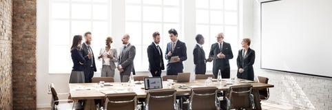 Έννοια εργασίας στρατηγικής συζήτησης συνεδρίασης της επιχειρηματικής μονάδας Στοκ Εικόνες