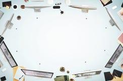 Έννοια εργασίας συζήτησης συνεδρίασης των επιχειρηματιών Στοκ εικόνες με δικαίωμα ελεύθερης χρήσης