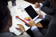 Έννοια εργασιακών χώρων ομαδικής εργασίας 'brainstorming' επιχειρηματιών Στοκ Εικόνες