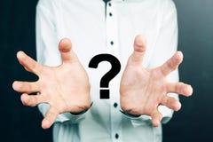 Έννοια ερωτηματικών σχεδίων επιχειρηματιών Στοκ εικόνες με δικαίωμα ελεύθερης χρήσης