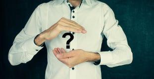 Έννοια ερωτηματικών σχεδίων επιχειρηματιών Στοκ φωτογραφία με δικαίωμα ελεύθερης χρήσης