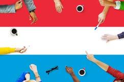 Έννοια ελευθερίας κυβερνητικής ελευθερίας λουξεμβούργιων εθνικών σημαιών Στοκ Εικόνες