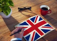 Έννοια ελευθερίας πολιτισμού υπηκοότητας σημαιών χώρας της Αγγλίας Στοκ φωτογραφίες με δικαίωμα ελεύθερης χρήσης