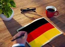 Έννοια ελευθερίας πολιτισμού υπηκοότητας σημαιών χώρας της Γερμανίας Στοκ Φωτογραφία
