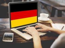 Έννοια ελευθερίας πολιτισμού υπηκοότητας σημαιών χώρας της Γερμανίας Στοκ Εικόνες