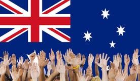 Έννοια ελευθερίας υπηκοότητας χώρας σημαιών της Αυστραλίας Στοκ φωτογραφία με δικαίωμα ελεύθερης χρήσης