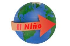 Έννοια Ελ Νίνιο Στοκ φωτογραφία με δικαίωμα ελεύθερης χρήσης