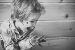 Έννοια ζωγραφικής Handprint Στοκ εικόνες με δικαίωμα ελεύθερης χρήσης