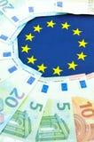 Έννοια ζωνών του ευρώ Στοκ φωτογραφία με δικαίωμα ελεύθερης χρήσης