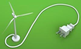 Έννοια ηλεκτρικής ενέργειας αέρα Στοκ Εικόνα