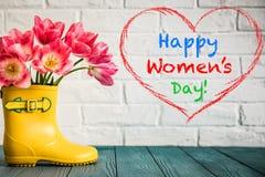 Έννοια ημέρας γυναικών ` s Στοκ εικόνες με δικαίωμα ελεύθερης χρήσης