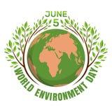Έννοια ημέρας παγκόσμιου περιβάλλοντος 5 Ιουνίου Στοκ Φωτογραφίες