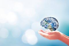 Έννοια ημέρας παγκόσμιων πνευματικών υγειών Στοκ Εικόνες