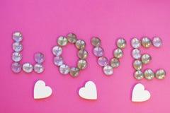Έννοια ημέρας του βαλεντίνου του ST στο ροζ Στοκ φωτογραφίες με δικαίωμα ελεύθερης χρήσης