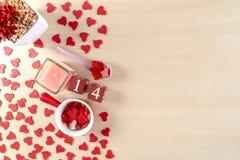 Έννοια ημέρας του όμορφου βαλεντίνου με τις καρδιές στοκ εικόνες με δικαίωμα ελεύθερης χρήσης