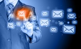 Έννοια ηλεκτρονικού ταχυδρομείου επιχειρηματιών Στοκ Φωτογραφία