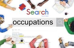 Έννοια θέσης πρόσληψης απασχόλησης σταδιοδρομίας επαγγελμάτων Στοκ εικόνες με δικαίωμα ελεύθερης χρήσης