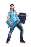 Έννοια διακοπών ταξιδιού με τις αποσκευές Στοκ Φωτογραφία