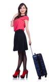 Έννοια διακοπών ταξιδιού με τις αποσκευές Στοκ εικόνα με δικαίωμα ελεύθερης χρήσης