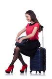 Έννοια διακοπών ταξιδιού με τις αποσκευές Στοκ Εικόνες