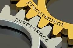 Έννοια διακυβέρνησης προμήθειας gearwheels, τρισδιάστατη απόδοση Στοκ Φωτογραφίες
